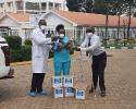 Mbagathi Hospital Sanitizer Donation 2020